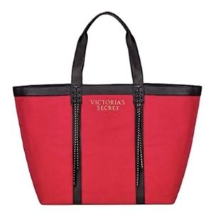 Victoria's Secret Canvas Tote Bag Studded NWT